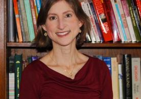 Professor Deborah Coen in her third-floor office at 320 York Street. Photograph by Leah Salovey for the FAS Dean's Office.
